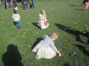 Girls enjoying the SFOM egg hunt